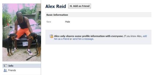 His name is Alex Reid, just in case.
